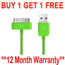 Genuine Charging Cable Charger Lead for Apple iPhone 4,4S,3GS,iPod,iPad Green