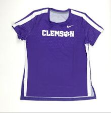 New Nike Clemson Tigers Digital Short Sleeve Crew Top Women's M Purple AQ3501
