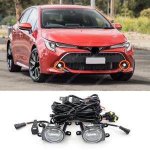 For Toyota Corolla Hatchback 2019-2021 LED Front Bumper Fog Lamp Assembly 2 pcs