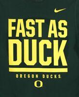 Nike Dri-Fit Oregon Ducks Fast As Duck Mens S Green T-Shirt