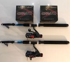 NEW 2 x Trekker 8ft Rod & Reel Combo CRK30 Rear Drag Reel Trout Spinning Travel