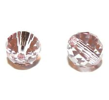 SCD140f Light Rose Pink 8mm Chessboard Round Swarovski Crystal Beads 2pc