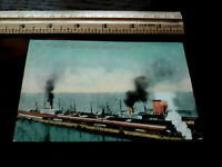 Historic Great Northern Dock ships SEATTLE Washington MITCHELL PHOTO POSTCARD