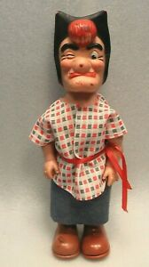 """VINTAGE MAMMY YOKUM TOY BABY BARRY DOLL 13"""" TALL RUBBER HOLLOW BODY WITH CLOTHES"""