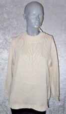 Olsen Fashion Pullover beige mit Rollkragen Langarm Größe 48