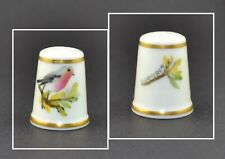 ROYAL WORCESTER HAND PAINTED BIRD THIMBLE - G.GAMERON