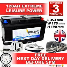 120ah LEISURE Battery 120 DEEP CYCLE, CARAVAN, MOTORHOME, BOAT Sealed for life