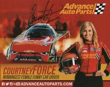 COURTNEY FORCE Signed Autographed NHRA Photo Bio Hero Card
