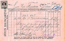 Alte Rechnung 1900 aus Linz, Anton Baungartner  (D24)