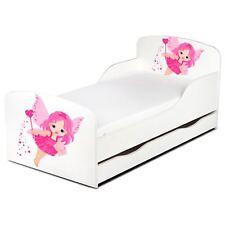 Fairy Staub Kleinkind Junior Bett Mit Unterbett Aufbewahrung Girls Kinder Rosa /