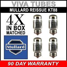 New Plate Current Matched Quad (4) Mullard Reissue KT88 / 6550 Vacuum Tubes