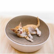 Cat Scratch Board Bowl Type Catnip Nail Scraper Mat Bed Toy Scratcher Corrugated