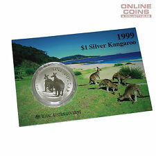 1999 Royal Australian Mint Uncirculated Specimen $1 Silver Frosted Coin - 1 oz