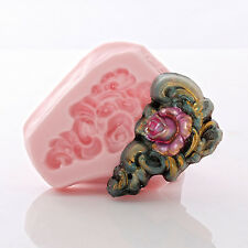 Rose Scroll Silicone Mold Cake Decorating Mold Food Safe Fondant Candy (562)