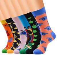 NEW Mens Cotton Blend Socks Animal Moustache Novelty Funny Sock