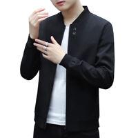 Thin Men/'s Zipper Casual Jackets Spring Slim Fit Collar Coat Tops Outwear XXX144