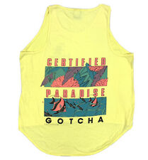 New listing Vtg Gotcha Certified Paradise Tank Top Shirt 1986 Surf Beach Surfer Usa 80s 90s