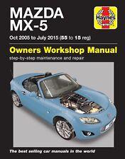 6368 Haynes Mazda MX-5 (Oct 2005 - July 2015) 55 to 15 Workshop Manual