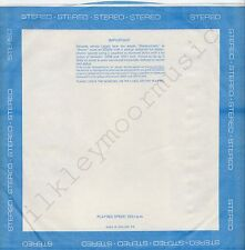 "Vintage INNER SLEEVE or SLEEVES 12"" BORDER blue STEREO poly-lined no-cut x 1"