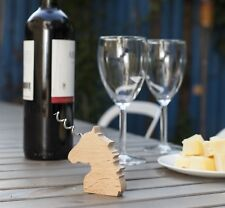 Kikkerland Beech Unicorn Manual Corkscrew Wine Bottle Opener Bar Accessory Gift