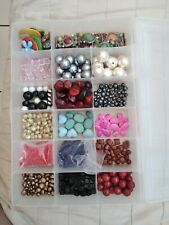 Beads Lot 2 Cristal Glass, Pearl Seeds Beads Metal All Beads will be Bagged Indv