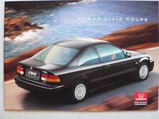 Prospekt Honda Civic Coupe, 2.1996, 28 Seiten, enthält Farben/Polster, englisch