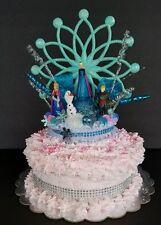 inspired Disney Frozen princess Anna & Elsa cake topper centerpiece decoration