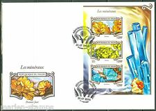 NIGER  2015 MINERALS  SHEET FIRST DAY COVER