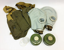 LOT OF 2 gas mask GP-5 size 1 SMALL full sets with bag filter