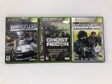 Original Xbox Game Lot Wreckless Yakuza Missions Ghost Recon Counter Strike