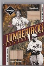 STAN MUSIAL ROGERS HORNSBY 2003 Leaf Limited Lumberjacks Bat Silver #'d 21/25