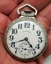 Vintage 1930 Illinois 19 Jewels Pocket Watch Size 16s, Grade 169, 5391750