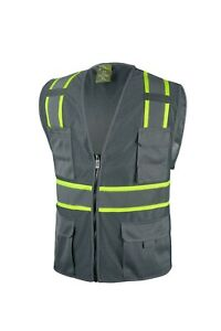 Grey Two Tones Safety Vest ,With Multi-Pocket Tool