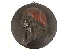 Médaille plaque bas-relief bronze portrait Marat franc-maçon XIXè siècle