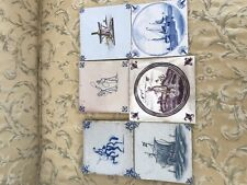 Lot Of 6 Antique Dutch Tiles