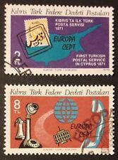 CEPT Ausgabe 1979 Türkisch-Zypern Teilsatz Mi-Nr. 71+73 gestempelt