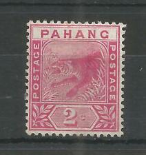 PAHANG 1891 QUEEN VICTORIA 2c ROSE SG,12 M/M LOT 372B
