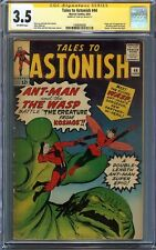 Tales to Astonish #44 CGC 3.5 SS STAN LEE Ant-Man Origin 1st app of WASP Kirby