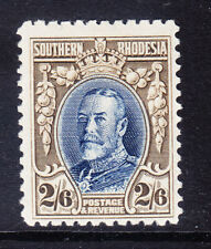 SOUTHERN RHODESIA George V 1931 2/6 blue & drab - P12 - mounted mint. Cat £50
