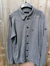 Duck And Cover Mens Grey Cardigan large.