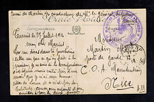 1916 France Army of North Africa cover Tunisia Commandant's Driver BAzar Arabs