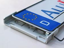 AluFixx Car Premium silber eloxiert Nummernschildhalter Kennzeichenhalter PKW