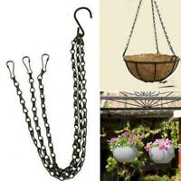 Hanging Flower Plant Pot Chain Basket Planter Holder Home Balcony Garden I4 G0K8
