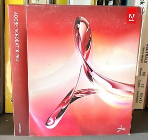 Adobe Acrobat X 10 Pro No Subscription required Windows Version
