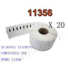 20 X Etichette Compatibili per DYMO 11356 89mmx41mm S0722560 LABELWRITER 400 450