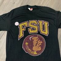 Florida State Seminoles T Shirt Adult M Black NCAA Football College Vintage 90s