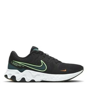 Nike Renew Ride 2 Black Green Genuine Trainers Casual Shoes UK stock Mens