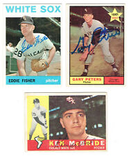 1961 Topps Baseball CHICAGO WHITE SOX autographed GARY PETERS card star pitcher