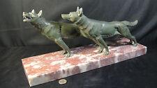 sculpture art déco les loups signé LAURENS