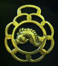 Light Weight FISH WINDOW FRAME Horse Harness Brass from England NAUTICAL DECOR